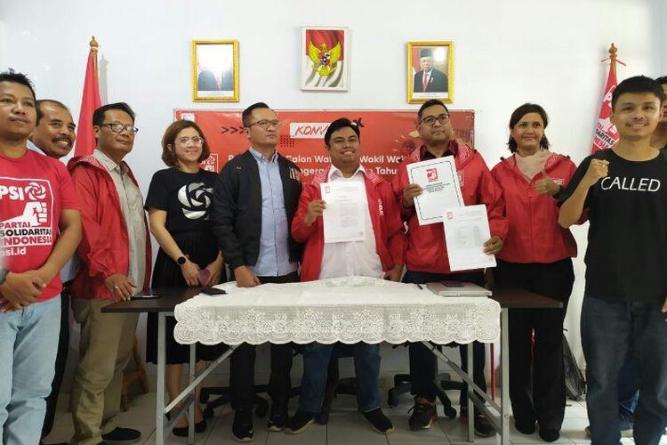 Dewan Pimpinan Daerah Partai Solidaritas Indonesia (DPD PSI) Kota Tangerang Selatan (Tangsel) mengumumkan sebanyak 18 nama Bakal Calon Wali Kota dan Wakil Wali Kota Tangsel yang lolos dalam seleksi administrasi pada konvensi penjaringan
