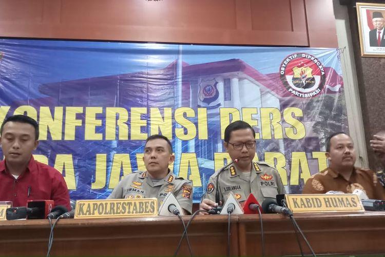 Jumpa pers hasil otopsi Lina Jubaedah di Polrestabes Bandung, Jawa Barat, Jumat (31/1/2020).