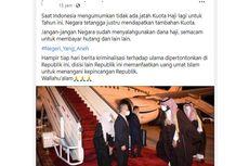 [KLARIFIKASI] Kuota Haji Malaysia Ditambah 10.000, Indonesia Tak Dapat