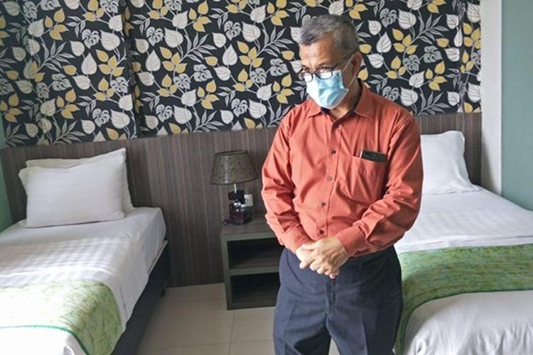 Tempat isolasi pasien Covid-19, The Green Hotel di Kayuringin, Bekasi Selatan, Rabu (23/9/2020).