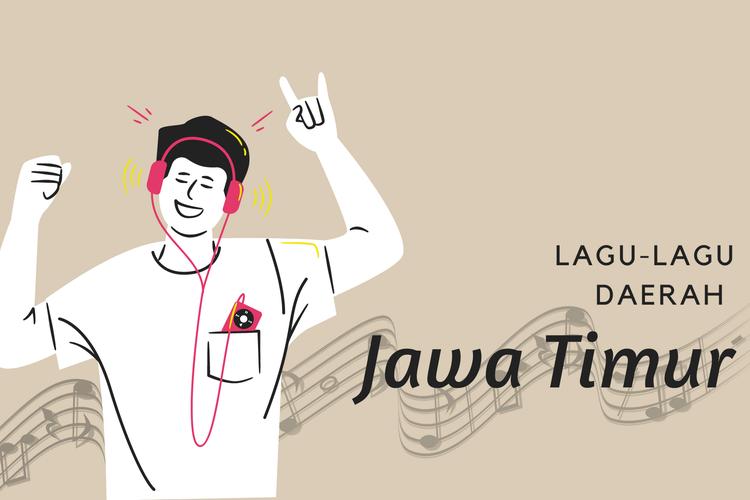 Ilustrasi lagu daerah Jawa Timur