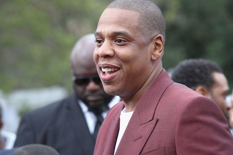 Artis musik Jay-Z menghadiri 2017 Roc Nation Pre-Grammy Brunch di Owlwood Estate, Los Angeles, California, pada 11 Februari 2017.