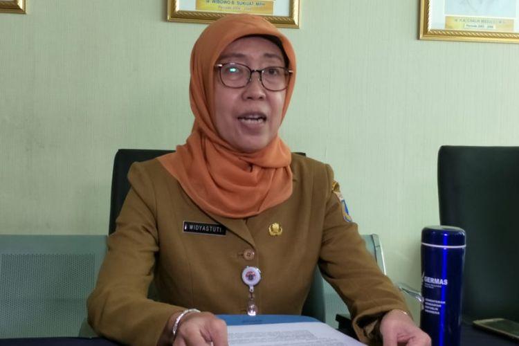 Kepala Dinas Kesehatan DKI Jakarta Widyastuti di kantornya, Petojo, Jakarta Pusat, Senin (4/3/2019).