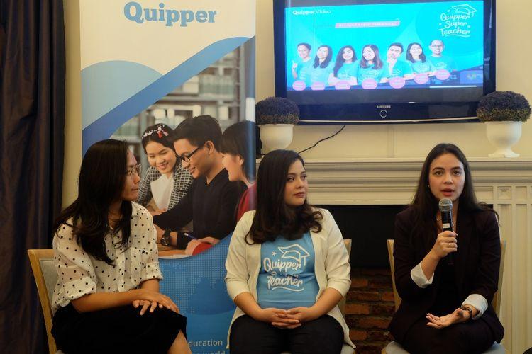 platform edukasi berbasis teknologi Quipper menggelar bincang pendidikan mengangkat tema Pentingnya Kesadaran & Peran Perempuan dalam Pendidikan di Jakarta (27/3/2019).