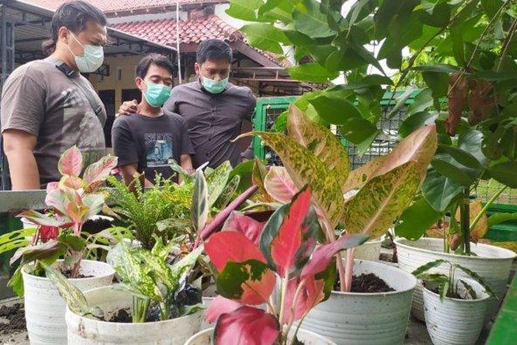 Polisi menangkap S yang telah mencuri 30 tanaman hias berbagai jenis yang nilainya mencapai Rp 15 juta.