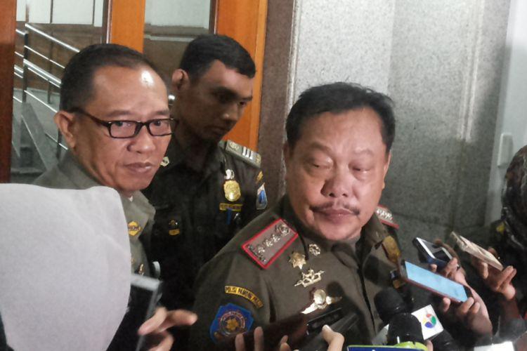 Wakil Ketua Satuan Polisi Pamong Praja DKI Jakarta Hidayatullah saat ditemui di Balai Kota, Kamis (26/10/2017).