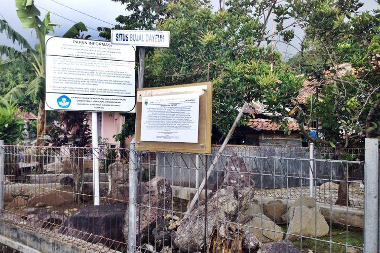 Situs Bujal Dayeuh di Desa Wisata Cibuntu, Kuningan, Jawa Barat.