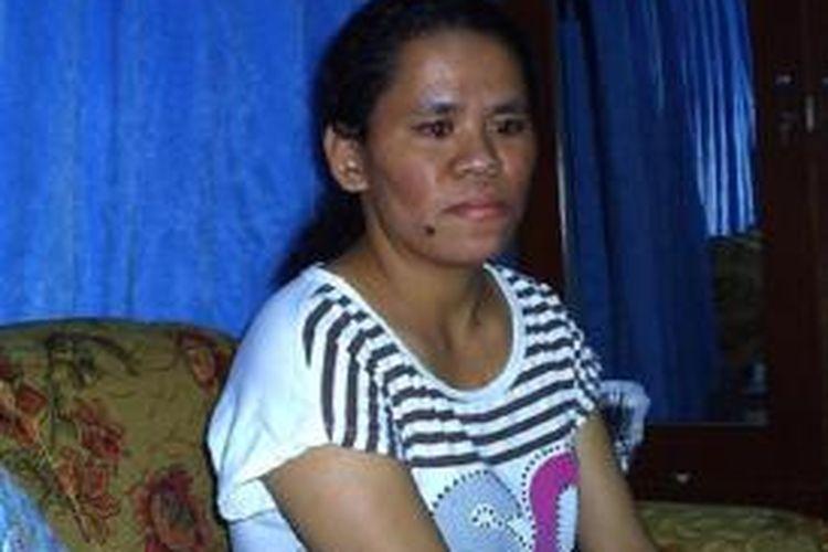 Yorita Nomleni TKW asal Desa Oinlasi, Kabupaten Timor Tengah Selatan (TTS), Nusa Tenggara Timur yang dideportasi dari Malaysia