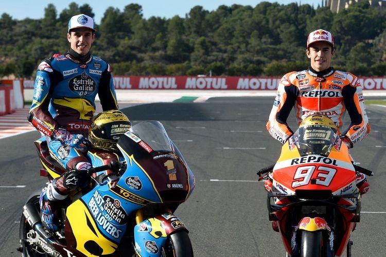 Alex Marquez resmi bergabung dengan Marc Marquez di Repsol Honda Team. (Photo by JOSE JORDAN / AFP)