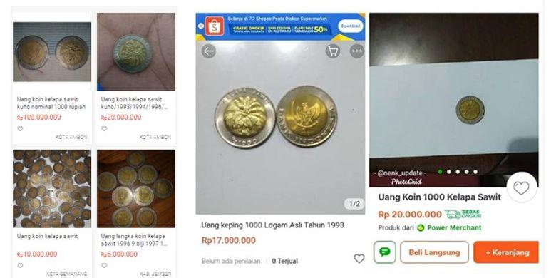 Gambar Uang Koin 100 China Viral Koin Rp 1 000 Kelapa Sawit Dibanderol Rp 100 Juta Ini Kata