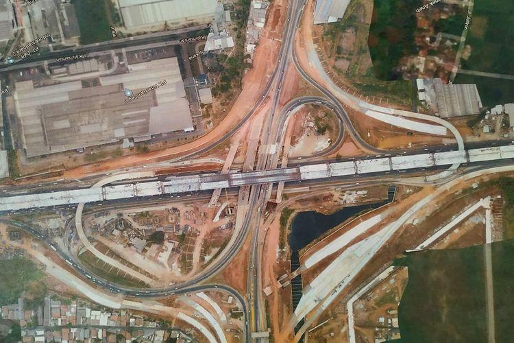 Proyek Jalan Tol Cibitung-Cilincing (JTCC), Kamis (10/10/2019).