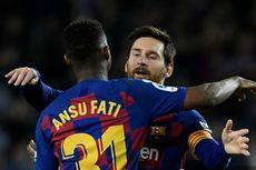 Momen Messi-Ansu Fati bagai De Javu Gol Perdana La Pulga untuk Barcelona