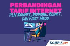 INFOGRAFIK: Perbandingan Tarif Internet PLN Iconnet, IndiHome, Biznet, dan First Media