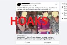 [HOAKS] Kecelakaan Pesawat Sriwijaya Air pada 10 September 2021, 179 Orang Tewas