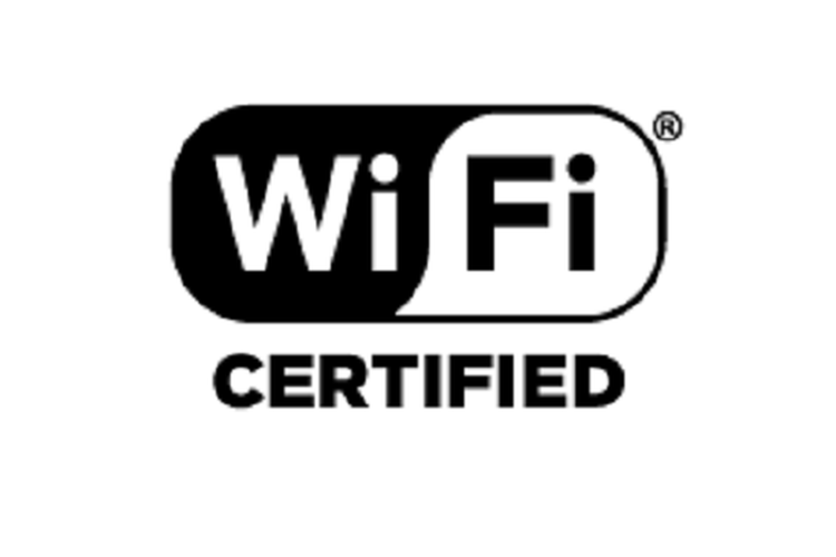 Cap Wi-Fi Alliance untuk produk Wi-Fi yang lolos sertifikasi. Logo ini manjadi pasaran untuk digunakan di titik jaringan WiFI.