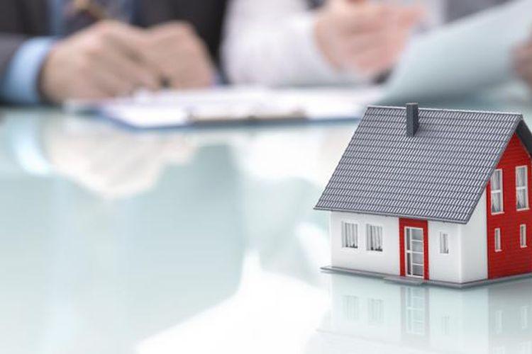 Ilustrasi simulasi KPR atau kredit kepemilikan rumah (kalkulator KPR).