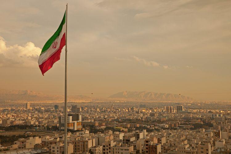 Ilustrasi Iran, bendera Iran