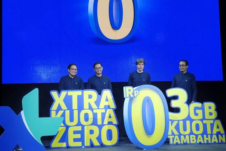 Peluncuran paket kuota Xtra Kuota Zero di Jakarta, Senin (23/9/2019).