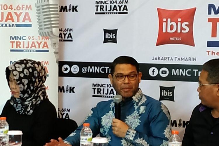 Politikus PKS, Nasir Djamil, saat mengisi diskusi di Bilangan Gondangdia, Jakarta Pusat, Sabtu (29/11/2019).