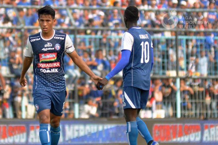 Gelandang Arema FC, Hanif Sjahbandi.