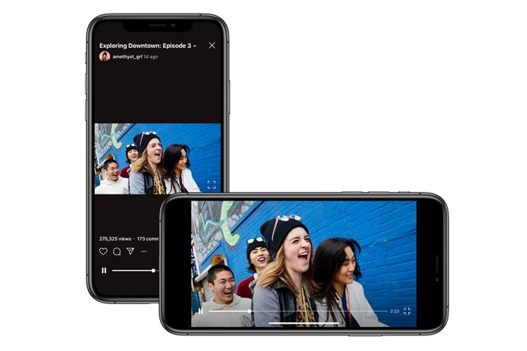 IGTV mendukung format video landscape