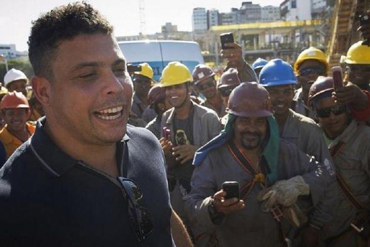 Legenda sepak bola Brasil, Ronaldo Luis Nazario de Lima.