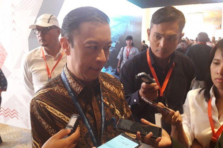 Kepala BKPM Thomas Lembong saat ditemui dalam.acara The Nexticonr International Convention di Kuta, Bali, Sabtu (13/10/2018).