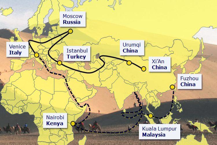 Proyek raksasa One Belt One Road, China.