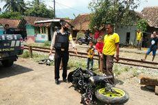 Mesin Motor Tiba-tiba Mati di Perlintasan Kereta, Siswa Ini Hampir Ditabrak KA Argowilis