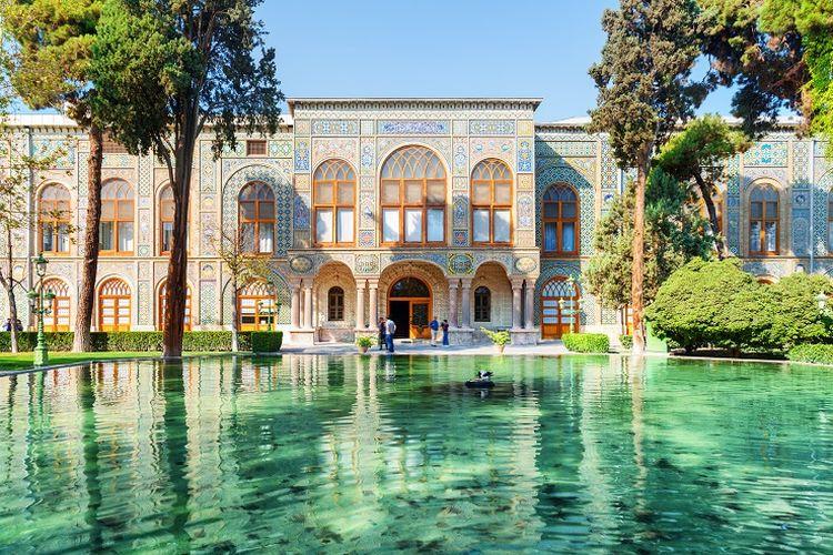Ilustrasi Iran - Golestan Palace.