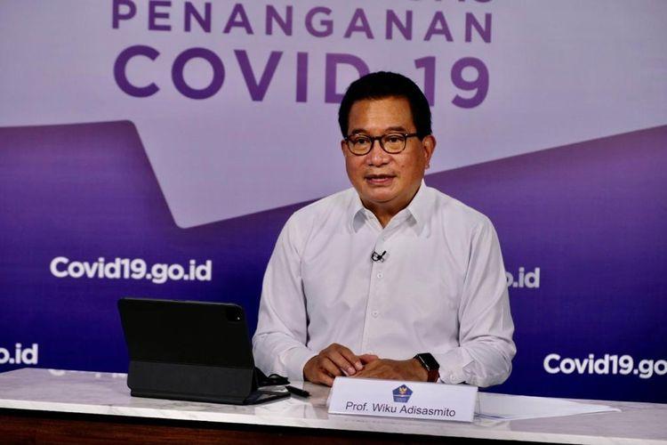 Koordinasi Tim Pakar dan Juru Bicara Satgas Penanganan Covid-19 Wiku Adisasmito saat memberikan keterangan pers yang disiarkan kanal YouTube BNPB, Kamis (5/11/2020).
