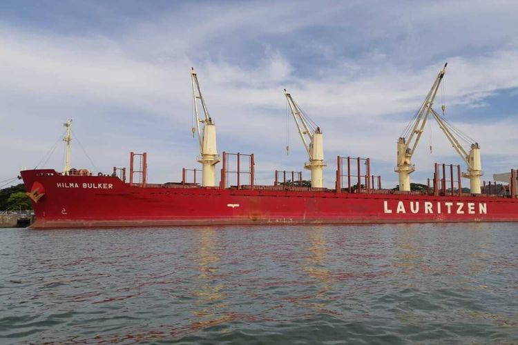 A cargo ship which sailed from India and docked in Cilacap, Central Java. 13 of the ship's crew tested positive for Covid-19