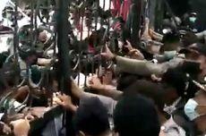 Unjuk Rasa Hari Tani Diwarnai Aksi Saling Dorong Mahasiswa dan Polisi