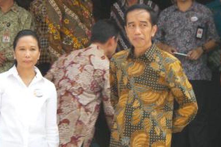 Presiden Joko Widodo dan Menteri BUMN Rini Soemarno