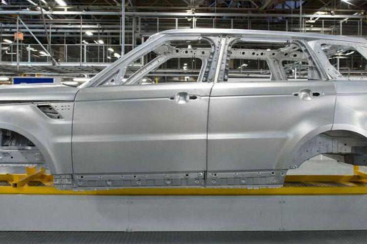 Ilustrasi produksi mobil.