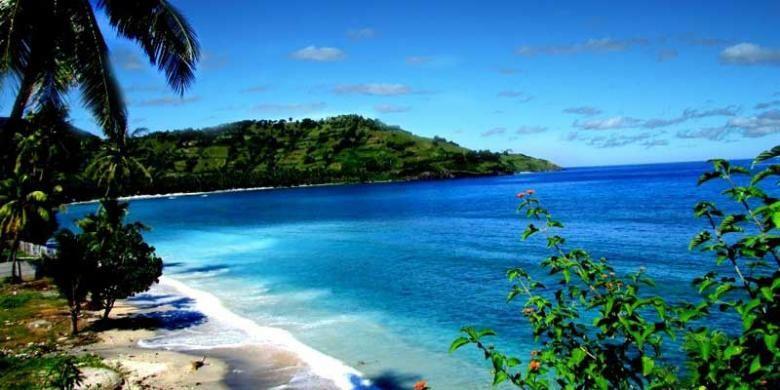 Pantai Malimbu di Pulau Lombok, NTB.