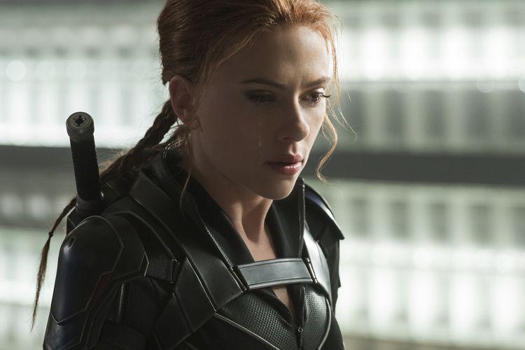 Aktris Scarlett Johansson sebagai Black Widow/Natasha Romanoff dalam film Black Widow, produksi Marvel Studios.