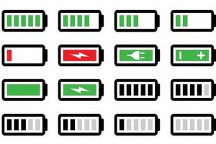 Ilustrasi baterai ponsel