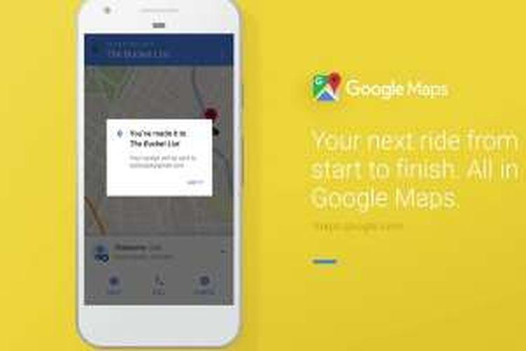 Pesan kendaraan Uber bisa langsung dari aplikasi Google Maps.