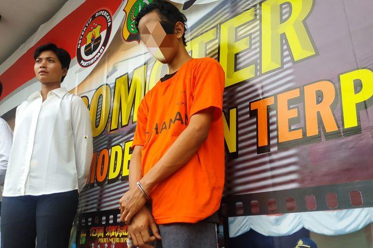 MA (19) alias Paul, tersangka kasus pencurian dengan kekerasan di Depok, Jawa Barat ditangkap polisi, Senin (17/2/2020).