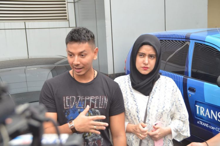 Fairuz dan Sonny Septian saat ditemui di kawasan Tendean, Jakarta Selatan, Senin (23/7/2018).