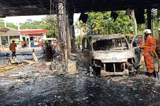 Pom Bensin di Cipayung Terbakar Diduga karena Radiasi Handphone