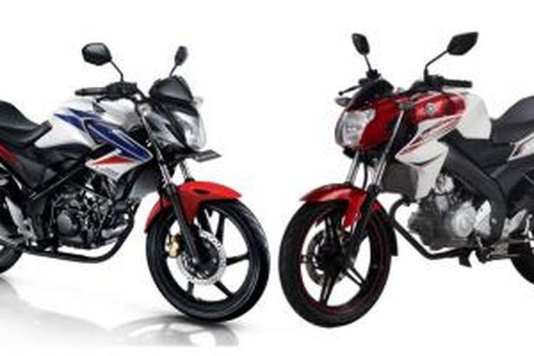 Harga bekas Honda CB150R dan Yamaha V-ixion yang mulai turun bisa dijadikan alternatif tunggangan sport harian.
