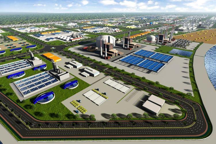 Denah pembangunan Pelabuhan Tanjung Carat. STCIndustry