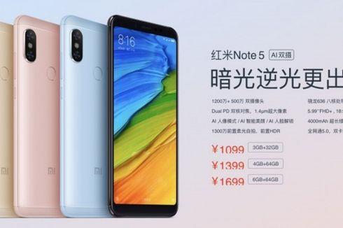 Xiaomi Luncurkan Redmi Note 5 AI Dual Camera