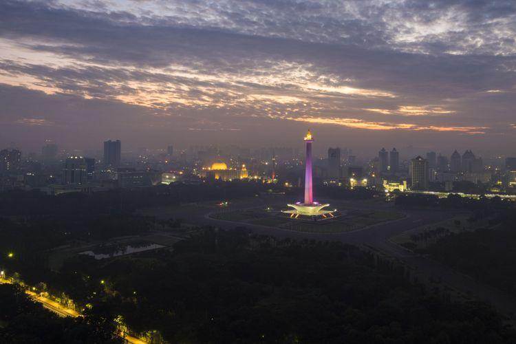 Monumen Nasional (Monas) di Jakarta, Ibu Kota Indonesia