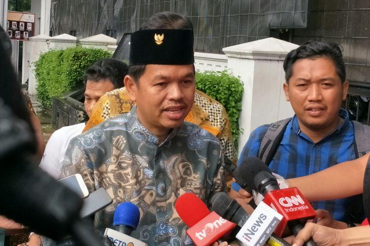 Ketua Dewan Pimpinan Daerah (DPD) I Partai Golkar Jawa Barat, Dedi Mulyadi ketika ditemui rumah dinas Wakil Presiden Jusuf Kalla, Jalan Diponegoro, Jakarta Pusat, Kamis (30/11/2017).