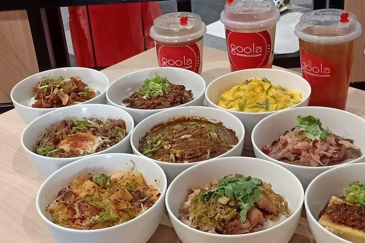 Beragam menu tradisional Indonesia yang dikemas secara modern di Mangkok Ku dan Goola