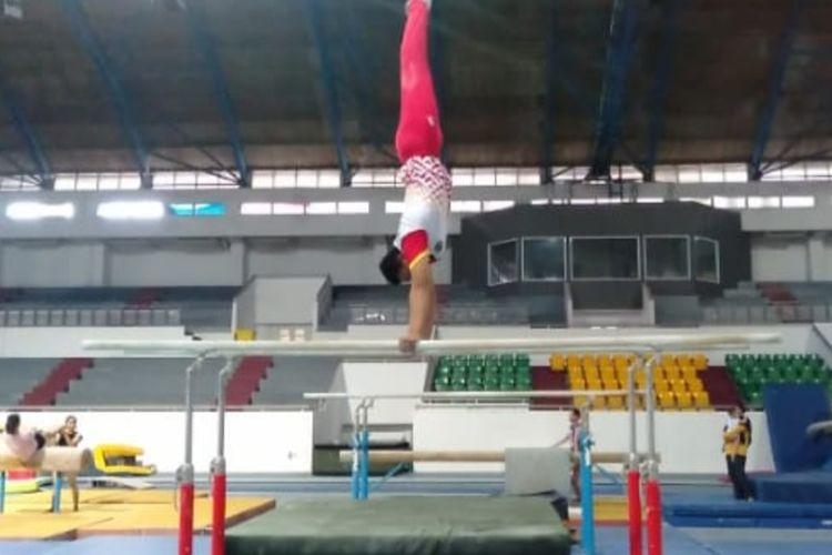 Atlet Senam Sumbar Rino Efendi