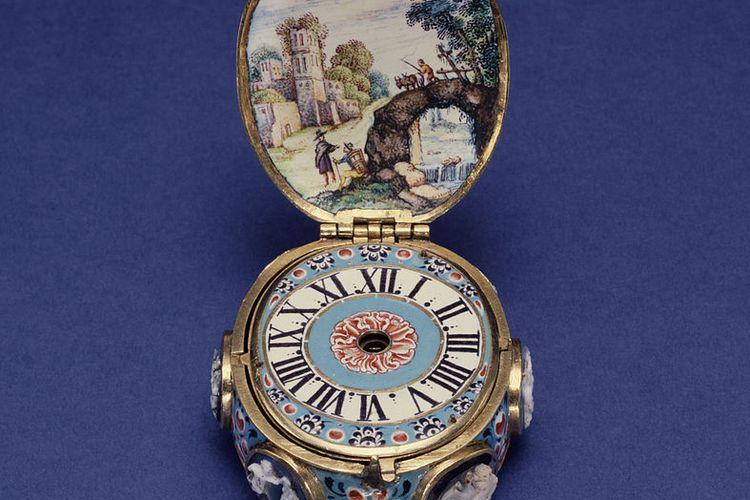 Ilustrasi arloji portabel klasik buatan Johan Ferdinand Mehrer asal Jerman. Sebelum ditemukan jam tangan, arloji portabel berkembang di Jerman. Peter Henlein adalah tukan kunci yang menjadi pencetus arloji portabel, cikal bakal dari jam tangan masa kini.